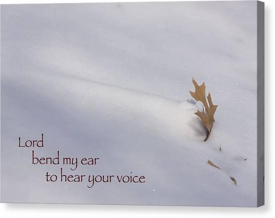 Bend My Ear Canvas Print