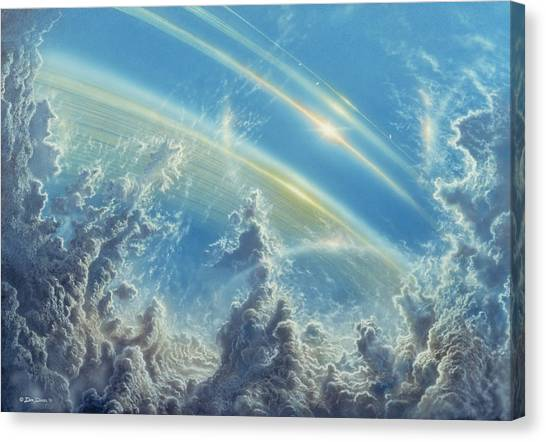 Saturn Canvas Print - Beneath Saturn's Rings by Don Dixon