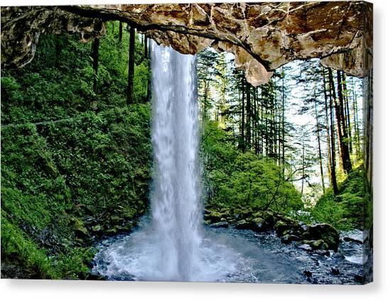 Beneath The Falls Canvas Print