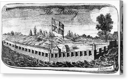 Philadelphia Union Canvas Print - Benjamin Franklin: Battery by Granger