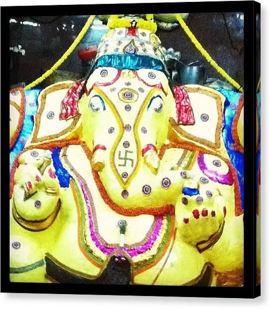 Hinduism Canvas Print - Benne Alankara Ganapathi by Jyothi Joshi