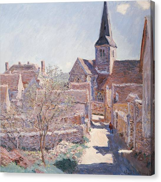 French Canvas Print - Bennecourt by Claude Monet