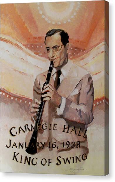 Benny Goodman Portrait Canvas Print