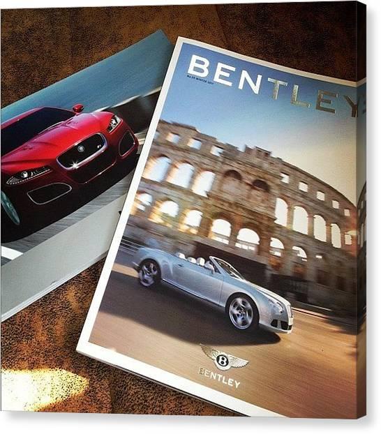 Race Cars Canvas Print - #bentley #gtc #jaguar #xfr #mag #2012 by Omar Chawki