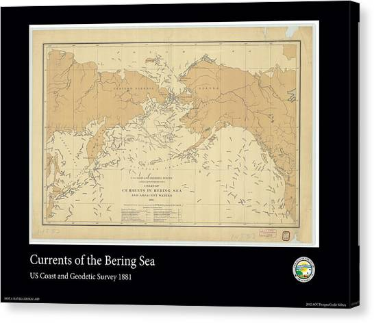 Bering Sea Currents 1881 Canvas Print by Adelaide Images