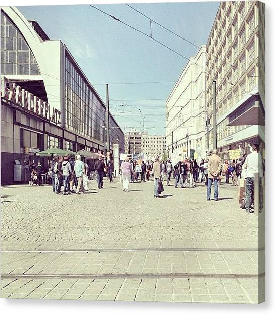 Berlin Canvas Print - Berlin Alexanderplatz by Cornelia Woerster