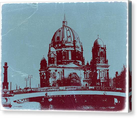 Cathedrals Canvas Print - Berlin Cathedral by Naxart Studio