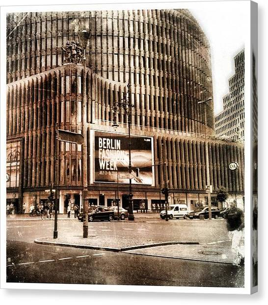 Berlin Canvas Print - Berlin Ku-damm by Cornelia Woerster