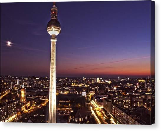 Berlin Tv Tower Canvas Print by Bianca Baker