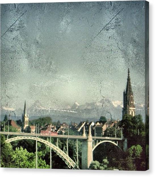 Swiss Canvas Print - Bern City - Switzerland by Joel Lopez