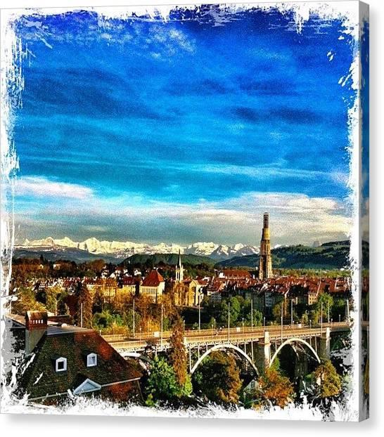 Swiss Canvas Print - Berne. Capital Of Switzerland by Urs Steiner