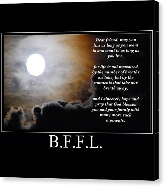 Back Canvas Print - Best Friends For Life  by Nigel Williams