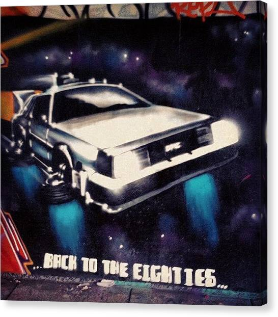 Back To The Future Canvas Print - Best. Streetart. Ever.  by Andrew Coulson