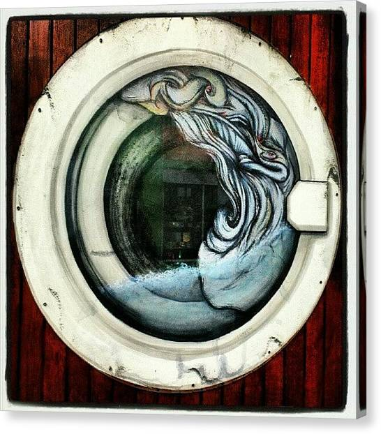 Quirky Canvas Print - Best Use Of A #porthole #window I've by Siobhan Macrae