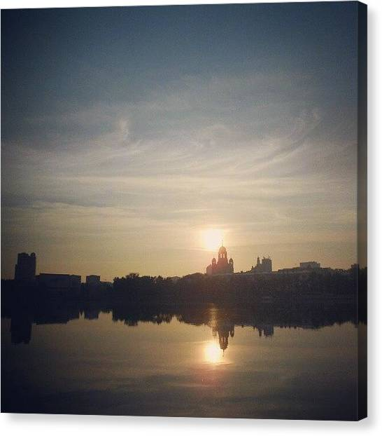 Russia Canvas Print - #bestoftheday #sun #sunrise #sky #river by Igor Che 💎