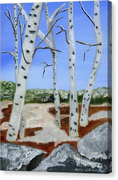 Between Seasons  Canvas Print by Maria Williams
