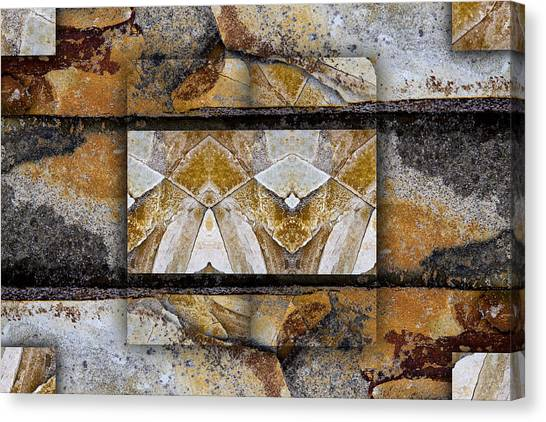 Geology Canvas Print - Between Tides Number 11 by Carol Leigh
