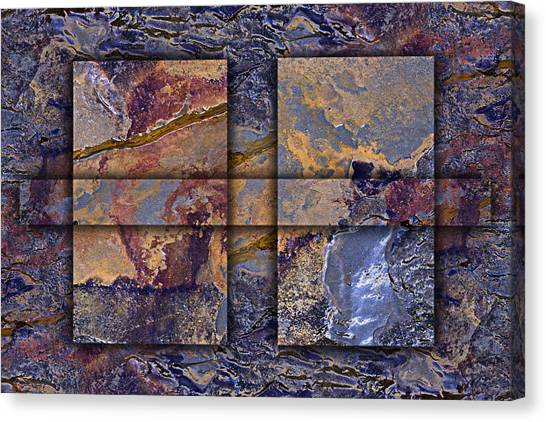 Geology Canvas Print - Between Tides Number 12 by Carol Leigh