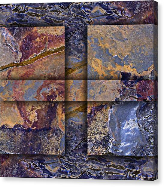 Geology Canvas Print - Between Tides Number 12 Square by Carol Leigh