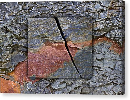 Geology Canvas Print - Between Tides Number 15 by Carol Leigh