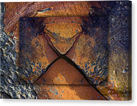 Geology Canvas Print - Between Tides Number 16 by Carol Leigh