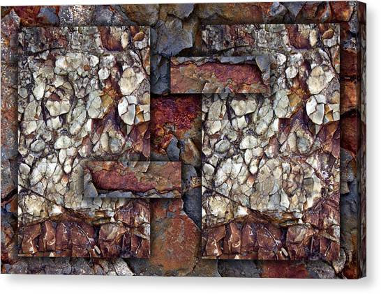 Geology Canvas Print - Between Tides Number 2 by Carol Leigh
