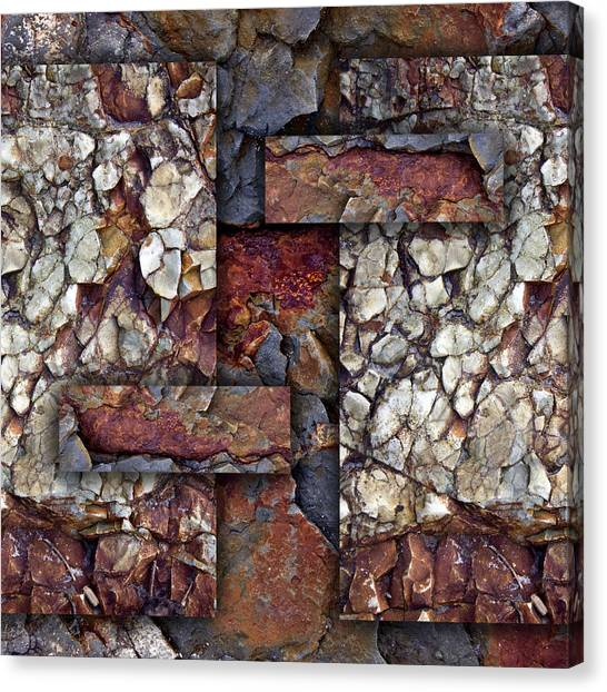 Geology Canvas Print - Between Tides Number 2 Square by Carol Leigh