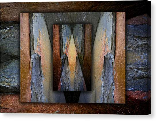 Geology Canvas Print - Between Tides Number 3 by Carol Leigh
