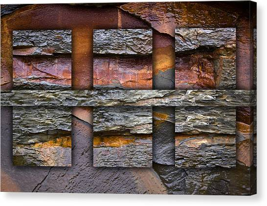 Geology Canvas Print - Between Tides Number 5 by Carol Leigh