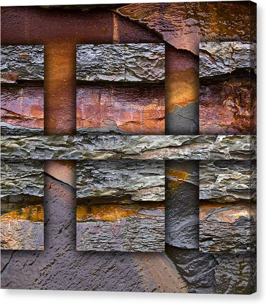Geology Canvas Print - Between Tides Number 5 Square by Carol Leigh
