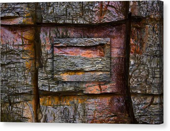 Geology Canvas Print - Between Tides Number 7 by Carol Leigh