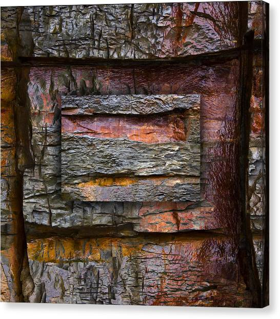 Geology Canvas Print - Between Tides Number 7 Square by Carol Leigh