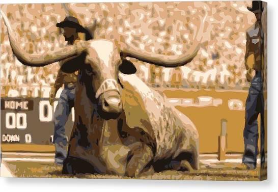 The University Of Texas Canvas Print - Bevo Color 16 by Scott Kelley