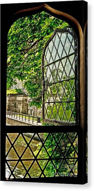 Beyond The Castle Window Canvas Print