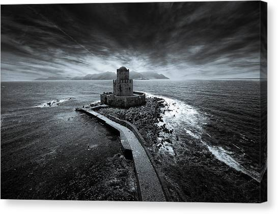 Beyond The Sea There Is A Small Prison Canvas Print