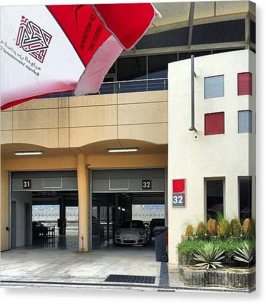 Porsche Canvas Print - #bic #bahrain #circuit #middleeast by Khaleel Alibrahim