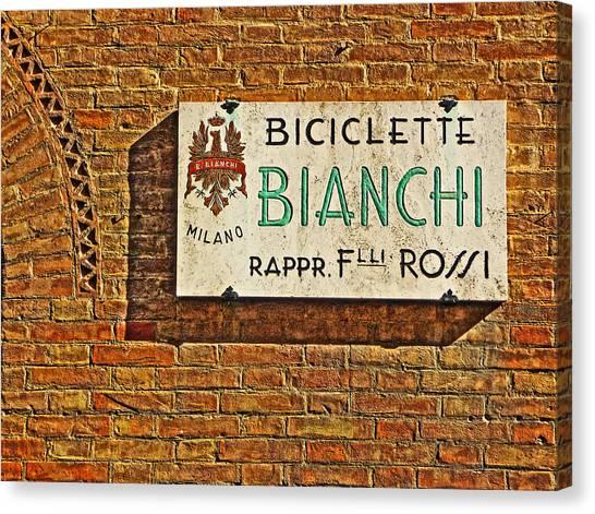 Biciclette Bianchi Canvas Print