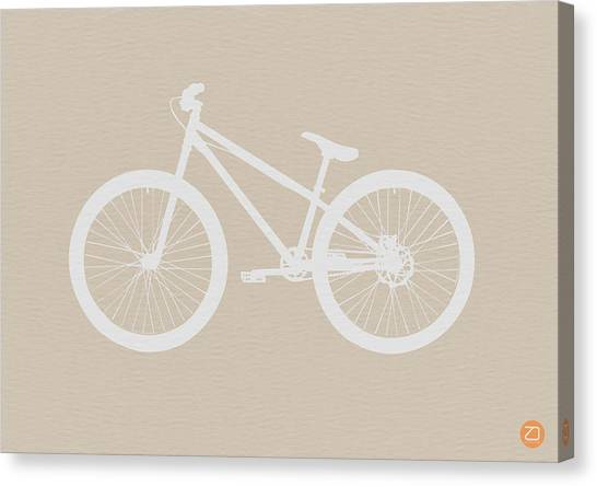 Bicycle Canvas Print - Bicycle Brown Poster by Naxart Studio