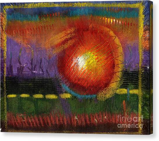 Fire Ball Canvas Print - Big Ball Of Fire by Angela L Walker