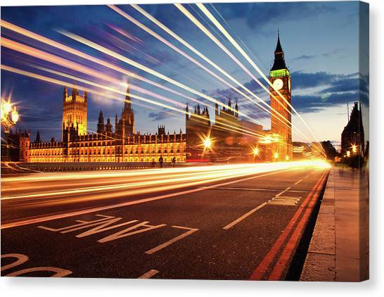United Kingdom Canvas Print - Big Ben And The Houses Of Parliament. by Stuart Stevenson photography