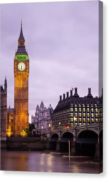 Big Ben In Twilight Canvas Print