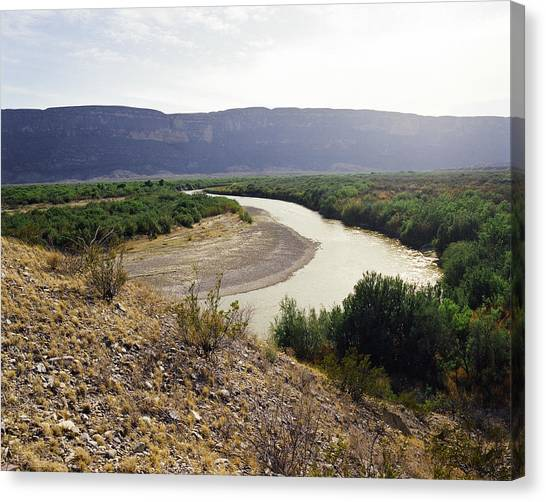 Big Bend Park Overlooking The Rio Grand River Canvas Print