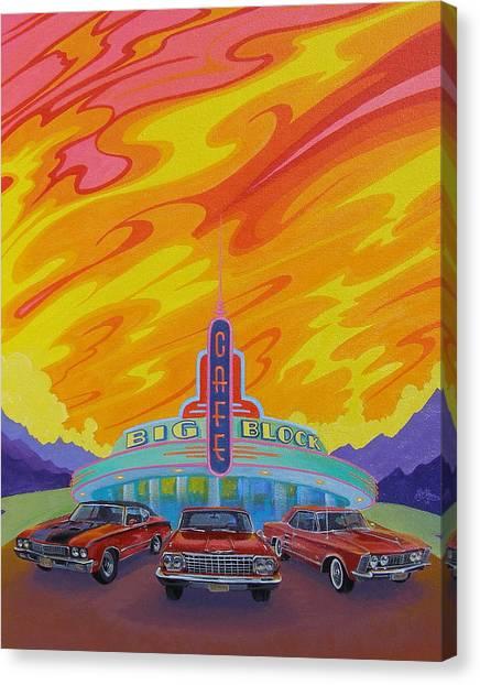 Big Block Cafe Canvas Print