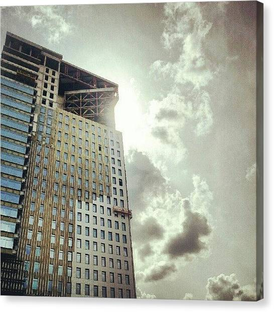 Big Sky Canvas Print - #big #building #sky #sun #clouds #cloud by Orange Fox