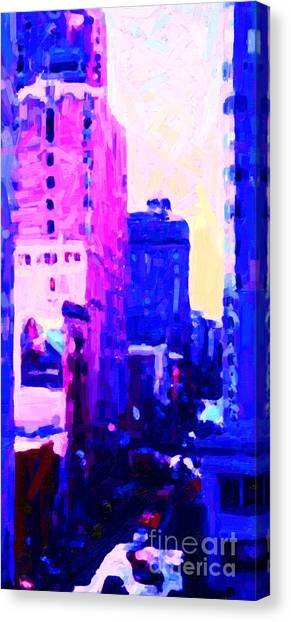Big City Blues Canvas Print by Wingsdomain Art and Photography