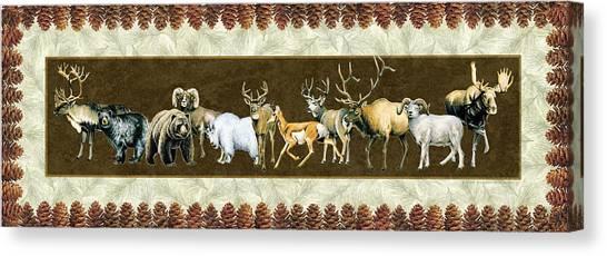 Elk Canvas Print - Big Game Lodge by JQ Licensing