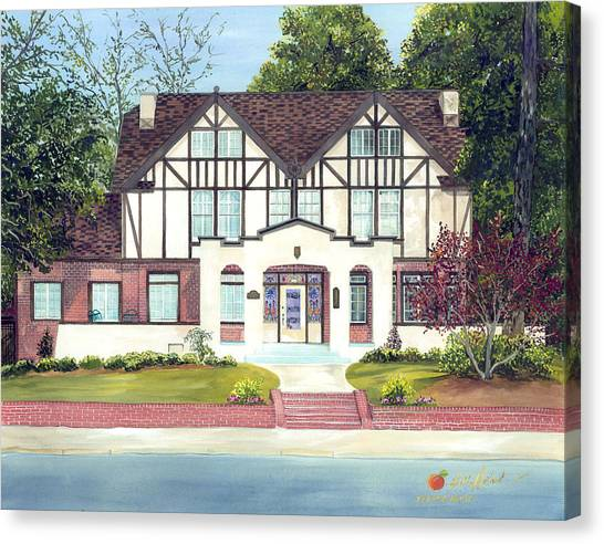The Allman Brothers Canvas Print - Big House Museum by Leah Holland