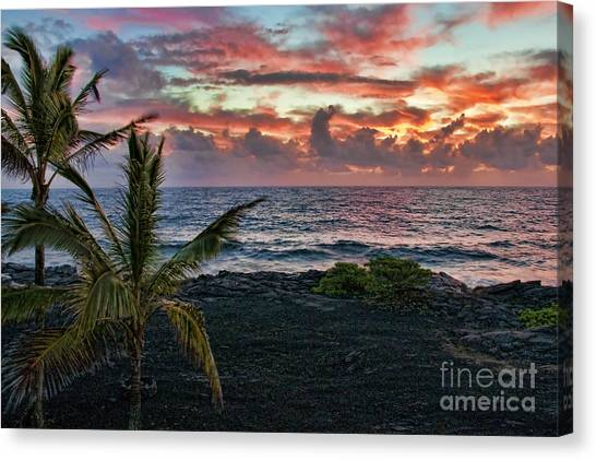 Big Island Sunrise Canvas Print