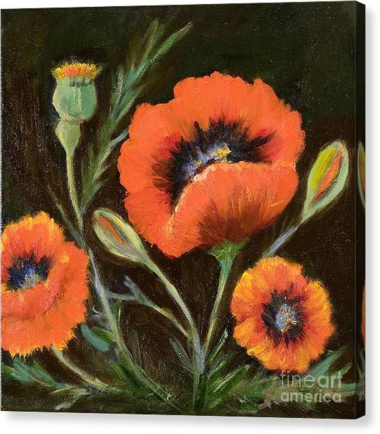 Big Orange Poppy Canvas Print