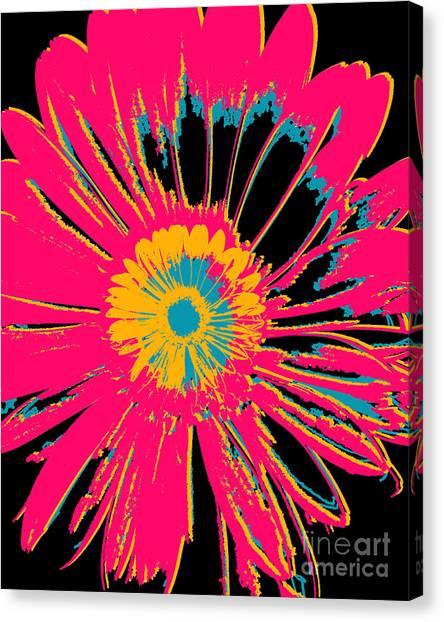 Big Pop Floral Canvas Print by Ricki Mountain